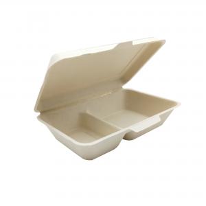 GRACZ SIMPLE B002 กล่องอาหารสองช่อง ขนาด 9 นิ้ว 1000 มล.