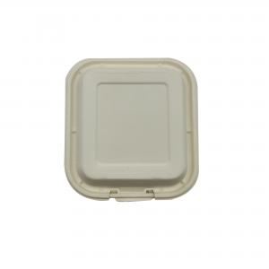 GRACZ SIMPLE B026 กล่องอาหารชานอ้อย 8 นิ้ว 1000 มล.