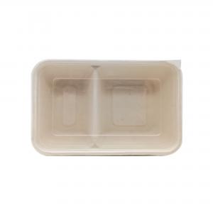 GRACZ SIMPLE T602 ถาดอาหารภาชีวะ 2 ช่องพร้อมฝาปิด F601 600 มล.