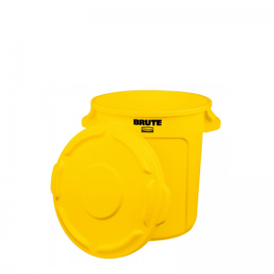 FG261000YEL BRUTE 10 Gallon Container with Lid – Yellow