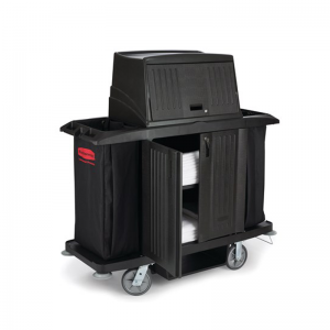 FG9T1900BLA Full Size Housekeeping Cart with Doors